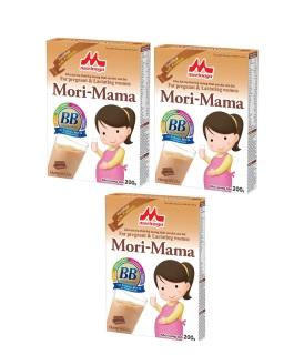 Combo 3 hộp Sữa bầu Morinaga Mori-Mama dành cho phụ nữ thời kỳ mang thai và cho con bú 200gr- hương socola thumbnail