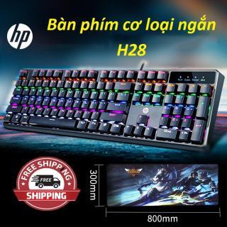 Bàn phím cơ loại ngắn H28-Bàn phím chơi game chất lượng,công nghệ RGB quang phổ hoàn thiện với hiệu ứng lightsync trong trò chơi,Sale sôc 50%,giao hàng toàn quốc bởi May Store. thumbnail