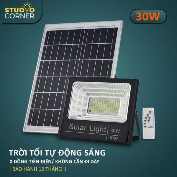 Bảng giá Đèn pha led Năng Lượng Mặt Trời công suất 20W-30W-60W-100W-200W Ánh sáng trắng Có điều khiển từ xa tiện lợi và thông minh Thân Vỏ Nhôm Tiêu chuẩn chống nước và chống bụi IP67-HL168