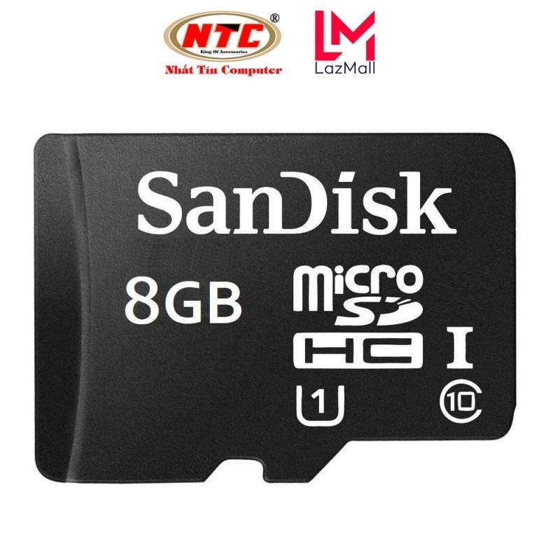Thẻ nhớ MicroSDHC SanDisk 8GB Class 10 U1 80MB/s - Không Box (Đen) - Nhat Tin Certified Store