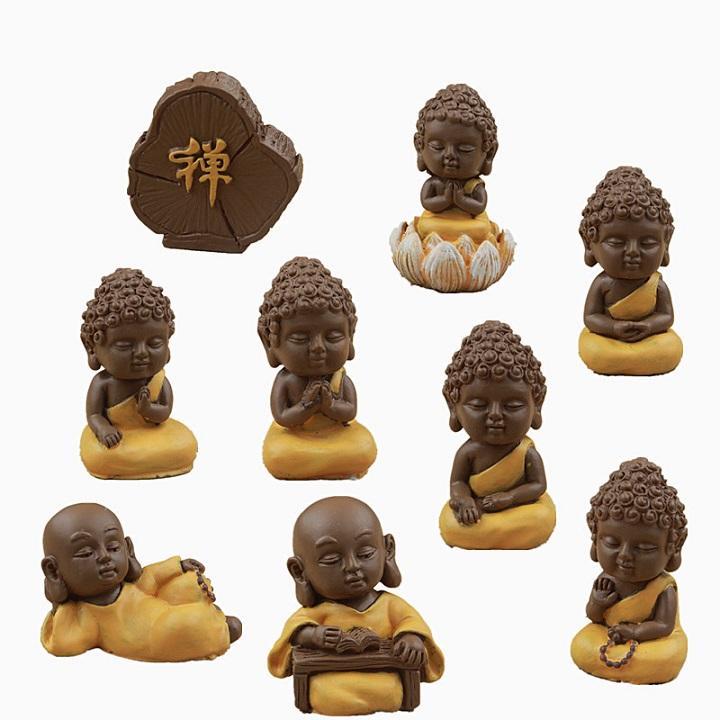 Deal Ưu Đãi Tượng-Tượng Phật-Bộ 9 Tượng Phật May Mắn Đem Lại Bình An Tài Lộc Trong Nhà-Maitoshi