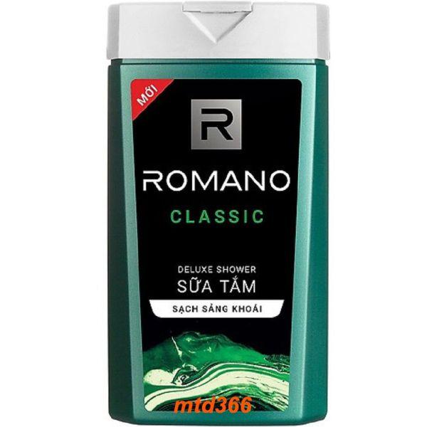 Sữa Tắm 180g Romano Classic Thơm Hương Nước Hoa Làm Sạch Sảng Khoái
