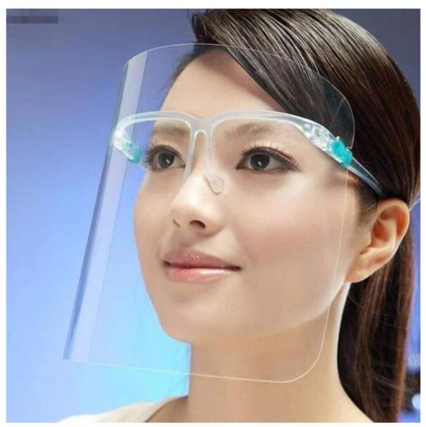 KÍNH PHÒNG DỊCH, mặt nạ chống nước bọt, ngăn giọt bắn, ngăn bụi, tấm Kính chắn, bảo vệ toàn mặt trong suốt nhựa PVC, KHẨU TRANG NHỰA đi máy bay, đi xe