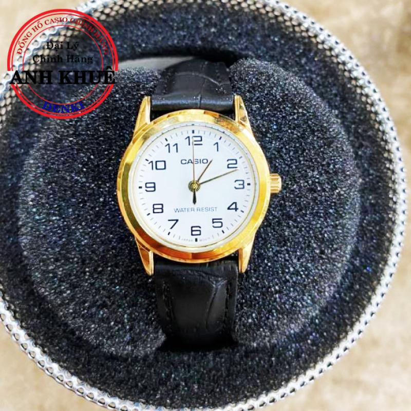 Đồng hồ nữ dây da Casio Standard Anh Khuê LTP-V001GL-7BUDF cao cấp