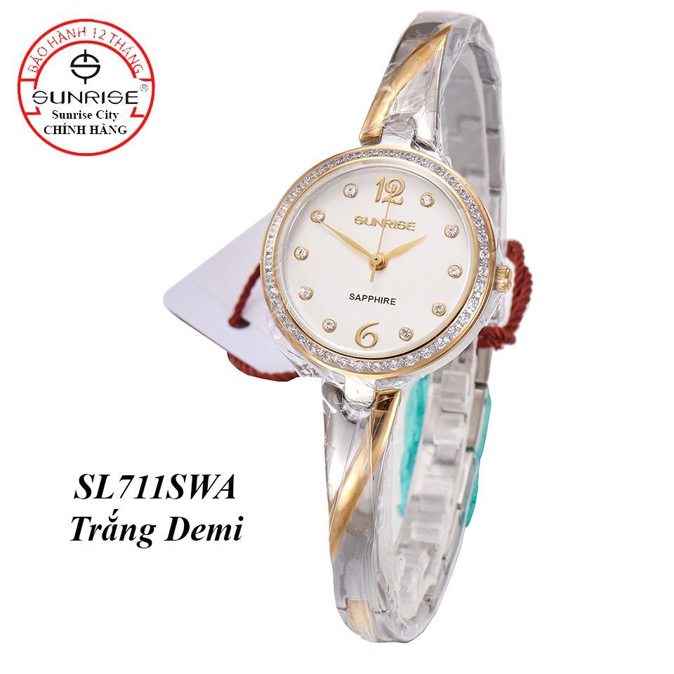 Nơi bán Đồng hồ nữ siêu mỏng Sunrise SL711SXA Đính đá Fullbox hãng kính Sapphire chống xước