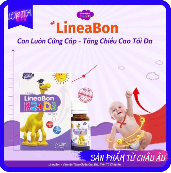 [CHÍNH HÃNG] LINEABON K2D3 – Hỗ trợ tăng chiều cao, hết còi xương - Sản phẩm CHÍNH HÃNG nổi tiếng tại Châu Âu