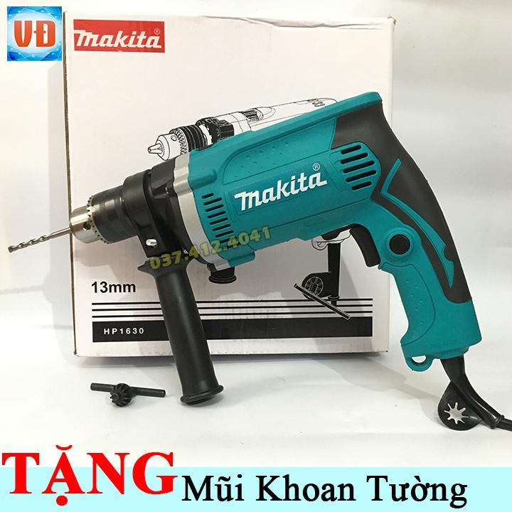 [ TẶNG MŨI KHOAN ] Máy khoan búa, khoan bê tông Makita HP1630 - Công suất 710W