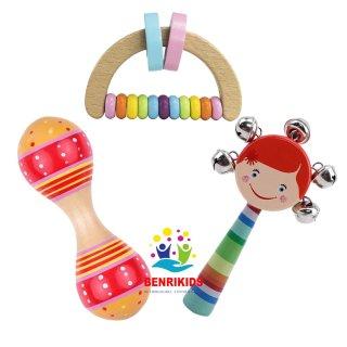 Đồ Chơi Trẻ Em, Đồ Chơi Xúc Xắc Lục Lạc Cho Bé Từ 0 Đến 6 Tháng Tuổi, Đồ Chơi Nhạc Cụ, Thiết Kế Nhỏ Nhắn Xinh Xắn Vừa Với Tầm Tay Của Trẻ, Nâng Bước Cùng Con Trong Thời Gian Đầu Đời thumbnail