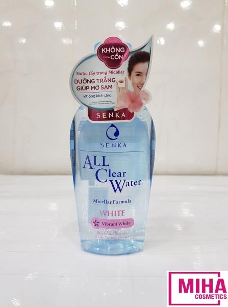 Nước Tẩy Trang Không Cồn Dưỡng Trắng Senka A.L.L Clear Water White 230ml cao cấp