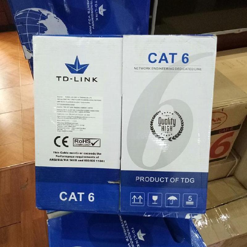 Bảng giá Thùng dây cáp mạng TD-LINK LAN CABLE CAT6 UTP 305M (BOX) Phong Vũ