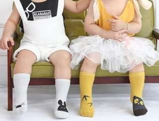 Tất kid cổ cao cho bé 0-3 tuổi phong cách hàn quốc đế chống trượt