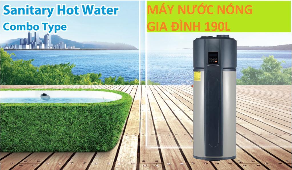 Bảng giá Máy nước nóng trung tâm cho gia đình công nghệ Heatpump, an toàn điện và tiết kiệm 80% điện năng