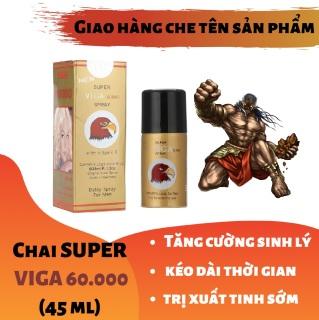 (Công thức siêu đậm đặc) Chai xịt SUPPER VIGA 60000 cao cấp tăng cường sinh lý nam mạnh mẽ (45ml) - hàng chính hàng thumbnail
