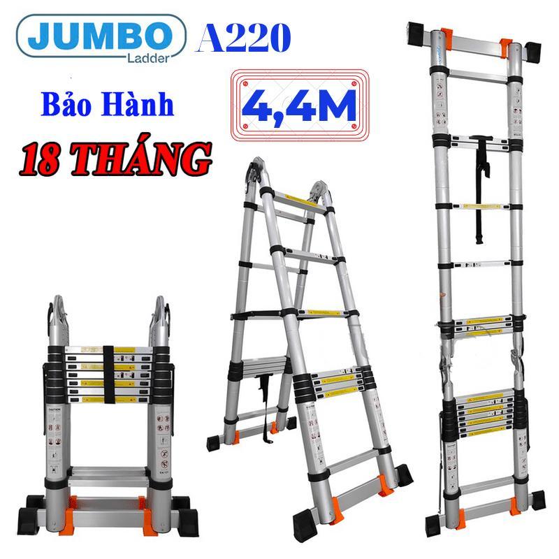Thang nhôm rút đôi chữ A Jumbo A220 - 4,4m