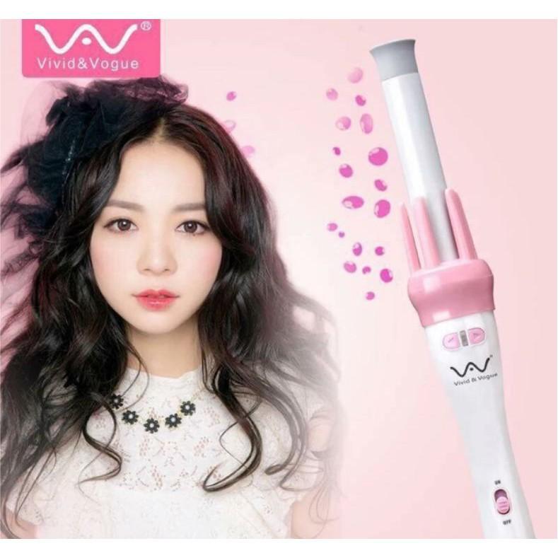 Máy uốn tóc tự động Vivid &a Vogue cao cấp bảo hành 1 đổi 1 mới nhất 2019, máy tạo kiểu tóc, máy làm tóc xoăn, máy làm tóc đa năng, máy làm tóc mini,máy làm tóc xoăn sóng tốt nhất
