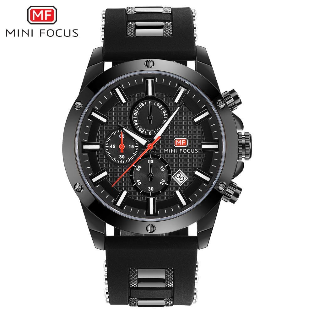 Nơi bán iWATCH-Đồng hồ nam MINI FOCUS IW-MF089 dây silicon lịch ngày Style Sport