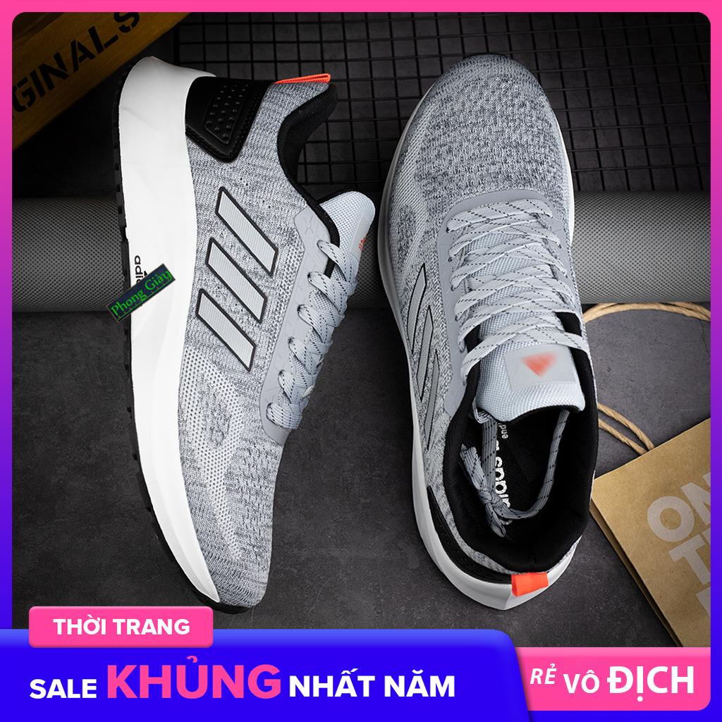 Giày Sneaker Nam Giày Thể Thao Nam D97 nam màu ghi sáng giày chạy bộ nam giày ulzzang nam giày thời trang nam giày đế bằng nam