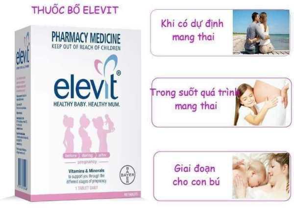 Viên uống tổng hợp Elevit  Pregnancy Multivitamin