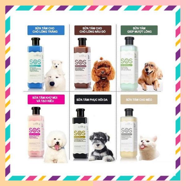 Sữa tắm SOS cho chó mèo, mượt lông, giảm ngứa và rụng lông, giúp lông luôn sáng bóng