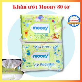 [HCM]KHĂN ƯỚT MOONY 80 TỜ NỘI ĐỊA NHẬT thumbnail