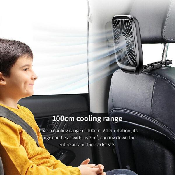 Quạt Baseus USB Mini Fan cho xe hơi, bàn làm việc, thiết kế có thể xếp gọn gàng, siêu mát