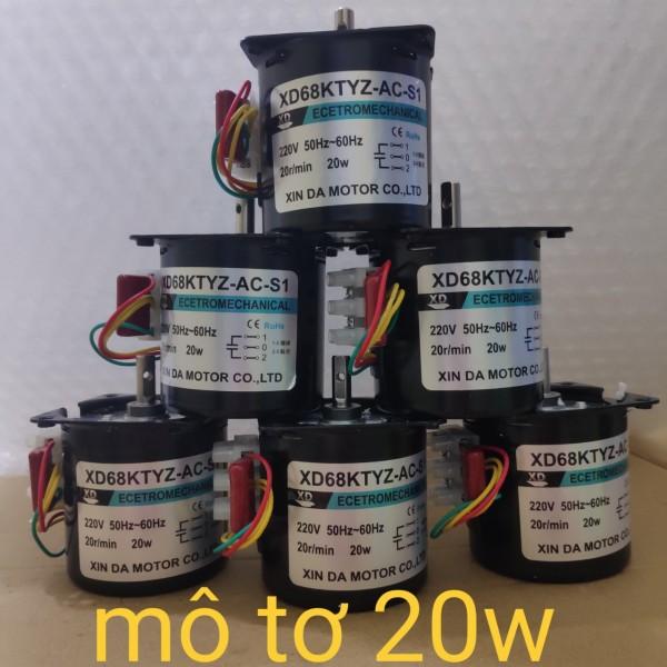 Mô tơ giảm tốc 220v 20W 20 vòng/phút kèm đầu trục kéo mô tơ
