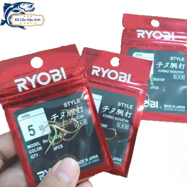 Lưỡi câu cá Nhật Bản Ryobi Chinu thép vàng đủ size LC1