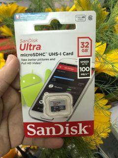 Thẻ Nhớ Micro Sandisk Ultra 32Gb Class 10, SPEED UP TO 100MB S Tốc Độ Cao.FULL BOX chính hãng [BH 2 năm] thumbnail