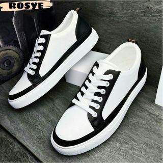 Giày thể thao nam - Giày sneaker Hàn Quốc trắng ROSYE chất liệu da PU đế cao su phong cách thời trang thumbnail