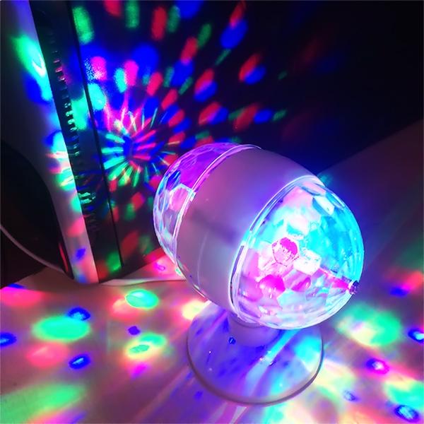 Bảng giá Đèn Led Cầu Xoay 2 Đầu 360 + Có đuôi đèn kèm siêu hot - Đèn tự động xoay tròn, có nhiều màu sắc làm cho không gian trở nên sôi động