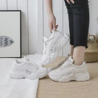 Giày thể thao nữ đế cao chất da đẹp S15 mới nhất siêu hot 2021 HAPU (trắng, kem) thumbnail