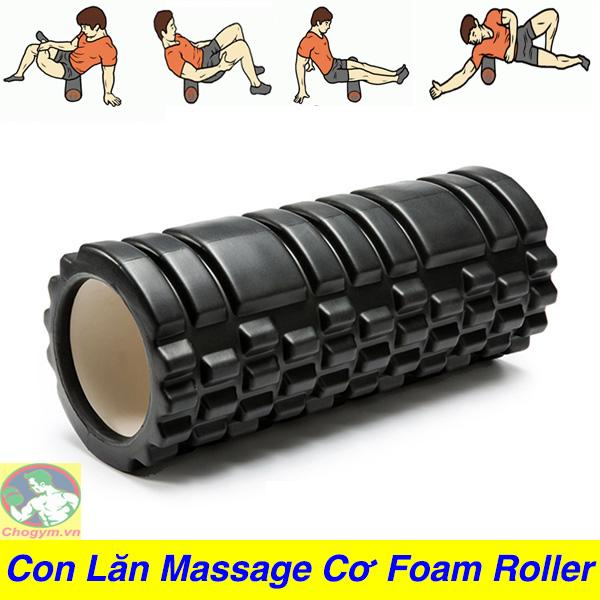 Con Lăn Massage Phục Hồi Cơ Foam Roller Tập GYM Yoga