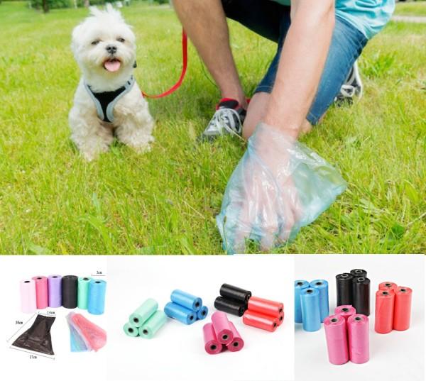 HCM- Túi hốt phân chó túi nilon hót cứt chó (mỗi cuộn 15 túi) / túi hót kít chó / hướng dẫn sử dụng túi bốc kít chó / túi đựng phân chó / túi đựng kít chó / túi rác tự phân hủy / túi đựng rác / túi phân chó
