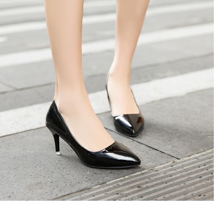 [CG-0345] Giày cao gót búp bê 5p  công sở gót nhọn