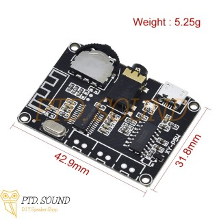 XY-P5W Mạch khuếch đại âm thanh Pam8406 5w 2 Bluetooth 5.0. Diy loa di động từ PTD Sound mã XY P5W thumbnail