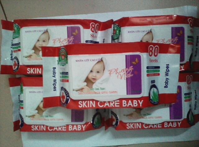 Combo 5 gói Khăn Giấy Ướt Baby hương dịu (...