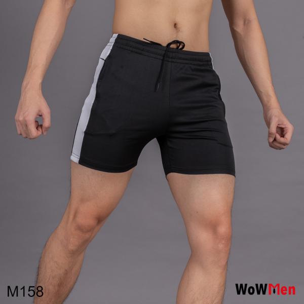 Quần Short Thun Nam Tập Gym Ngắn Ngang Đùi Mặc Bơi Đi Biển Mặc Nhà quần short thể dục nam - M158
