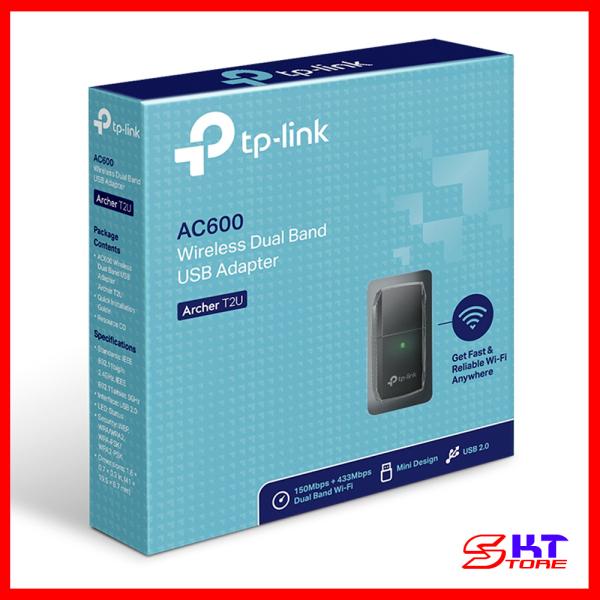 Bảng giá USB Thu Sóng Wifi Tp-Link Archer T2U Băng Tần Kép Chuẩn AC Tốc Độ 600Mbps - Hàng Chính Hãng Phong Vũ