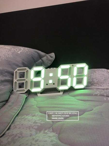Đồng hồ Điện Tử 3D Để Bàn hoặc treo tường - Báo Thức & Đo Nhiệt Độ - TN828 bán chạy