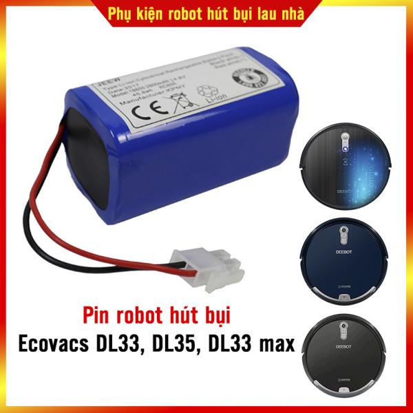 Pin robot hút bụi Ecovacs DL33, DL35, DL33 Max Hàng chính hãng bảo hành 3 tháng ( Lỗi 1 đổi 1 trong 3 tháng)