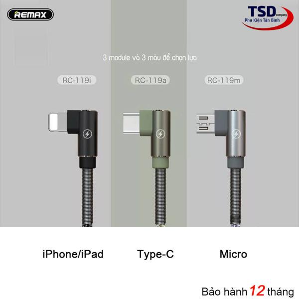 Cáp Remax RC-119 Chính Hãng ( Lightning – micro USB – Type C )