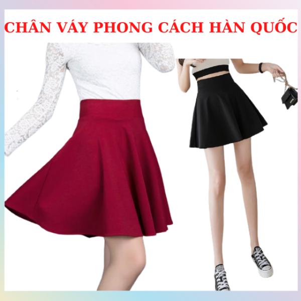 Chân Váy Ngắn Xòe, Chân Váy Chữ A ,Váy Kiểu  Hàn Quốc Trẻ Trung, Năng Động,Vải Lụa Mềm Mịn, Thoáng Mát