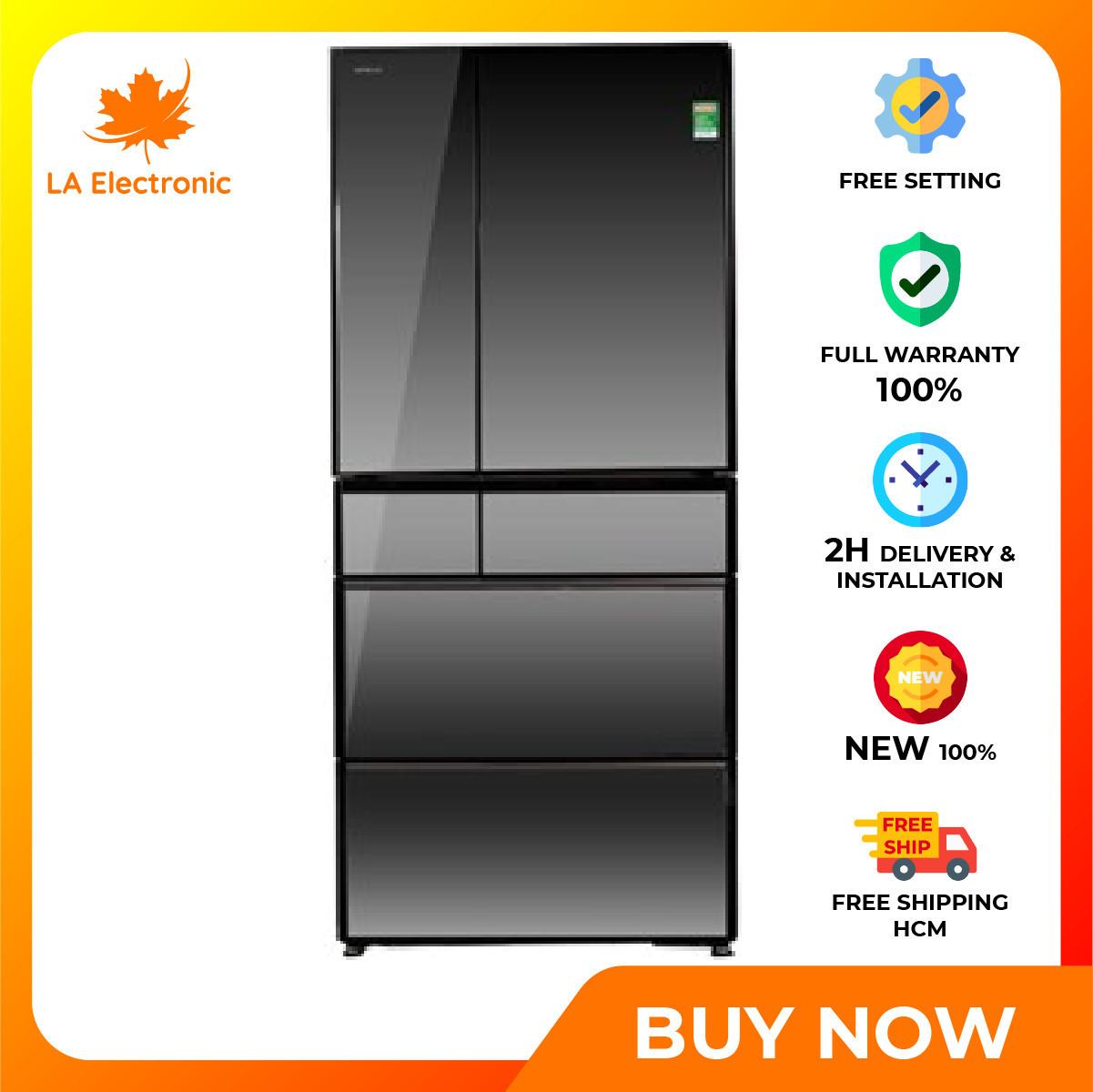 Trả Góp 0% - Tủ Lạnh Hitachi Inverter 722 lít R-X670GV (X) - Bảo hành 12 tháng - Miễn phí vận chuyển HCM