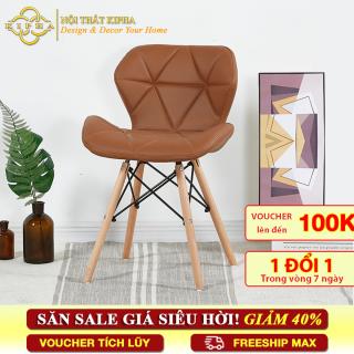 [Ghế cafe][Ghế văn phòng] Ghế Eames bọc nệm BC-03 chân gỗ - Ghế thư giản Eames bọc nệm thumbnail