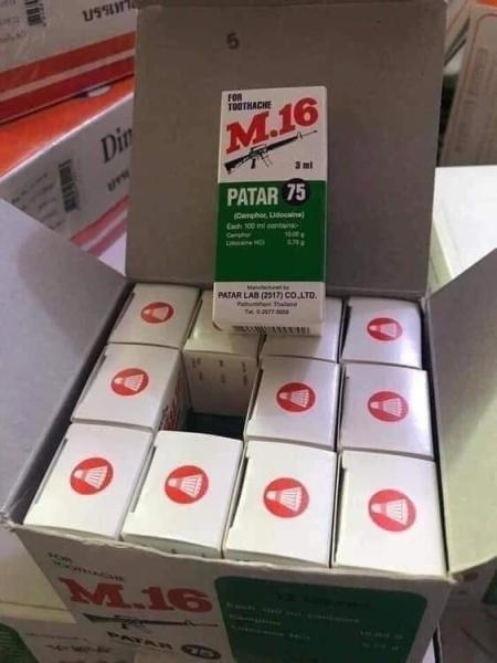 Combo 12 Hộp Dầu giảm đau nhức răng M16 Thái Lan giá rẻ