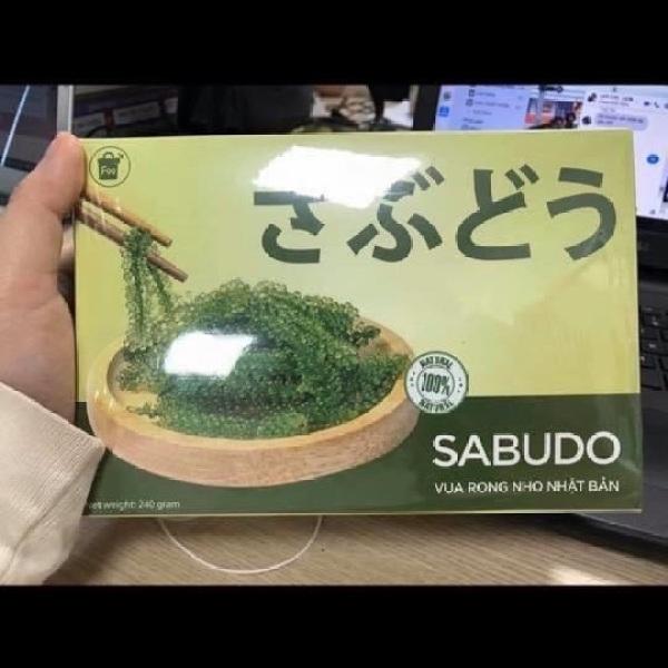 [Chính hãng ] combo 8 gói rong nho tách nước sabudo Nhật Bản + Tặng 8 gói sốt mè rang giá rẻ