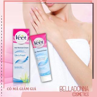 Kem Tẩy Lông Dành Cho Da Nhạy Cảm Veet Hair Removal Cream Silk & Fresh 100ml thumbnail