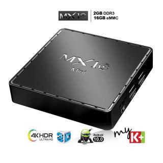 Android tv box giá rẻ tivi box bộ nhớ 16G ram 2G android 10.0 mới hiện nay xem video 4k hỗ trợ giọng nói bảo hành 12 tháng MX10MINI tv box