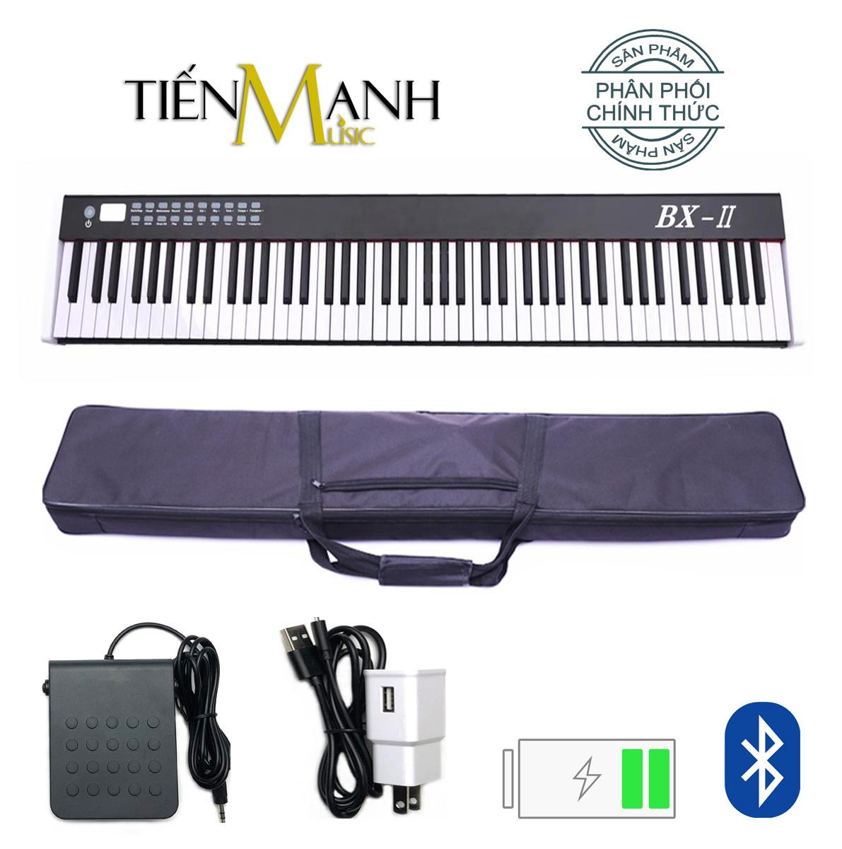 Deal Ưu Đãi Đàn Piano Điện Bora BX-II - 88 Phím Nặng Cảm ứng Lực BX-02 - Midi Keyboard Controllers BX2 BXII (Kết Nối Máy Tính Và điện Thoại, Bluetooth, Pin Sạc, Loa Lớn - Phần Mềm Và Hướng Dẫn Tiếng Việt -Tặng Bao đựng)