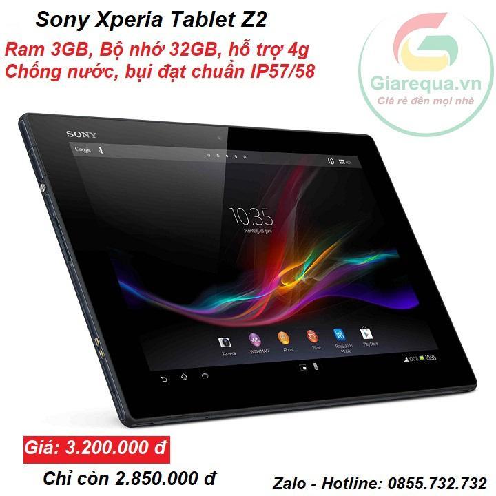 Máy tính bảng Sony Tablet Z2 Ram 3GB bộ nhớ 32GB, hỗ trợ 4g Nhật Bản